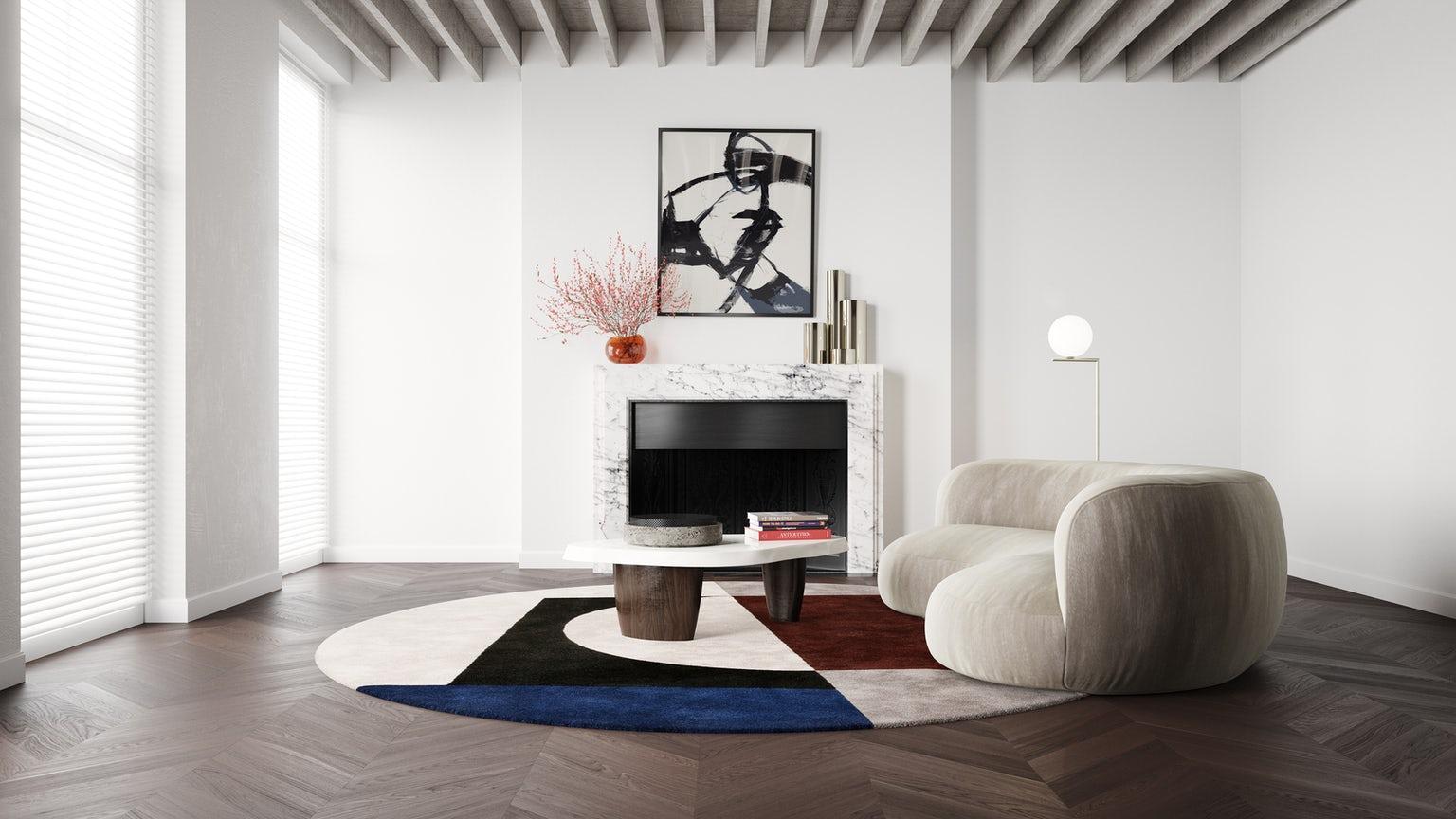 Mood H Bauhaus Circle Wool Silk curves